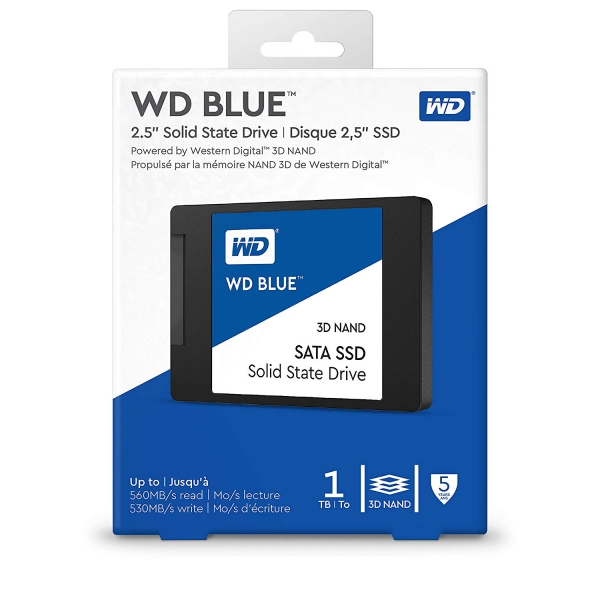 WD Blue 3D NAND 1TB SATA III 6Gb/s 2 5-inch 7mm Solid State Drive